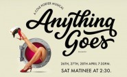 A graphic to promote anything goes with dates and times