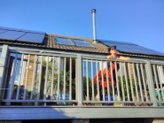 Linda Smith's home with solar panels