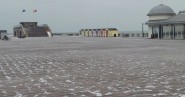 The pier at midday on Thursday 1 March.