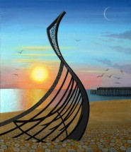 22. Winter Sunset Over Leigh Dyer's Boat by Jennifer Baird