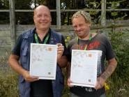 Dave and Gam receiving their John Muir Awards