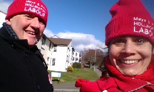 Labour's Paul Barnett and Maya Evans on the stump in Hollington.