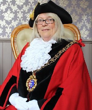 Outgoing mayor Cllr Judy Rogers.
