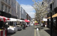 The monthly street market in King's Road, a hot spot for new businesses. What do you think of it all?