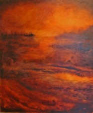 Three Miles West of Taranto (oil on canvas; 2018) by Kate Gritton