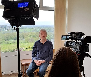 Jim Breeds, one of five elected spokespeople for FoHP, is interviewed for ITV's local news programme Meridien.