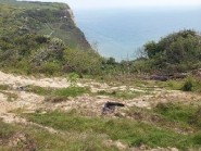 The landslip area looking towards the sea.