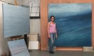 Claudia de Grandi in her studio