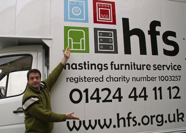 Mark Thomas with HFS van