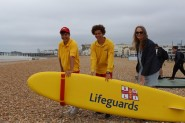 Lifeguards with Cllr Kim Forward