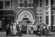 Commemorative Photograph of Bloomsday 2018 taken outside Hastings Library Photo Alex Brattell