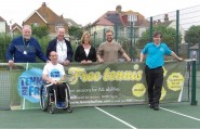 Tennis for free Egerton Park - with banner
