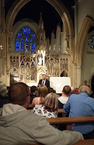 Simon addresses the gathering in the chapel (photo: Bernard McGinley).