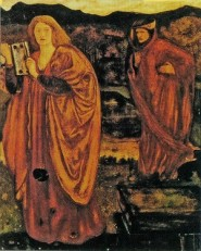 Cutler's conception of Nimue and Merlin in his painting xx. Image: Wikimedia Commons.