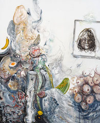 Maggi Hambling Portrait of the artist Sarah Lucas 2 oil on canvas 2013
