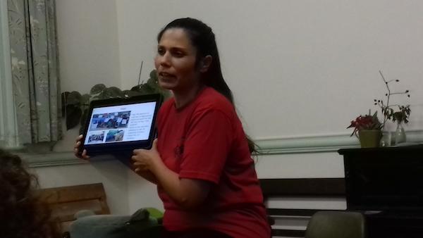 Maya Evans at the talk