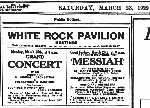 Excerpt from the Hastings Observer March 23 1929
