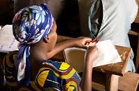 Girls in school in DRC