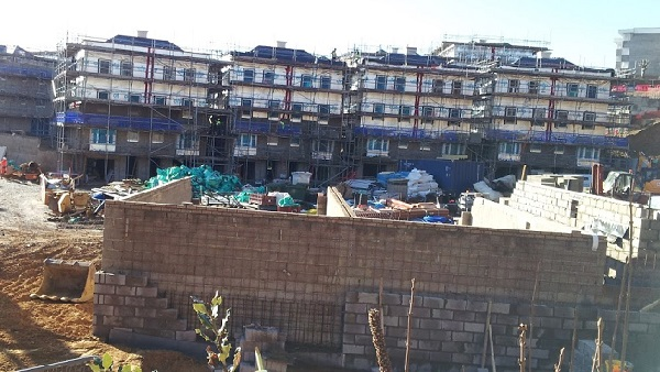 New houses going up apace on the Archery Ground in St Leonards.