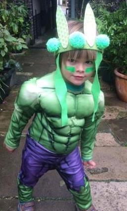 The Incredible Hulk is Winston's favourite superhero.