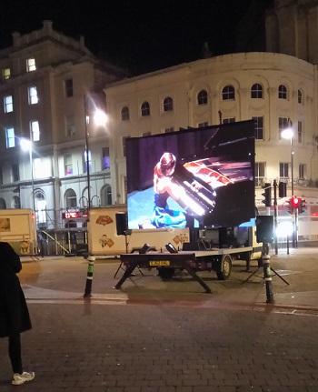 The semi-finals were live-streamed via a big screen in the town centre.