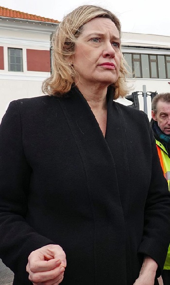 People in glasshouses? Amber Rudd, not so long ago in charge of implementing the Home Office's hostile environment policy towards immigrants, has accused local Labour of anti-semitism.