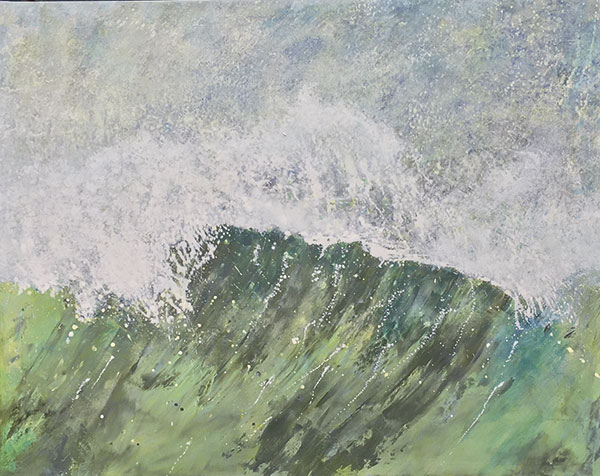 Alex Leadbeater's wave paintings are on show in South Lodge from 15–22 April
