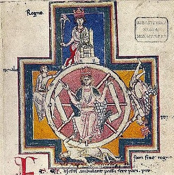 The vagaries of our life, as expressed by the Wheel of Fortune, are central to the philosophy of Carmina Burana (image: Wikimedia Commons).
