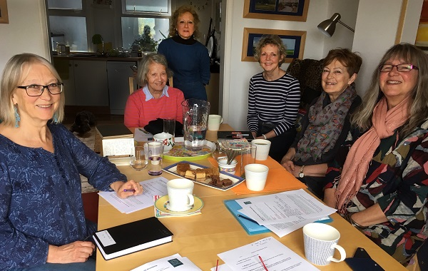 HOWCH meeting with, from left, Gwendoline Coates, Brekke Larson, Susan Beaney, Gabriella Pettitt, Ruby Cox and Rose Fordham.