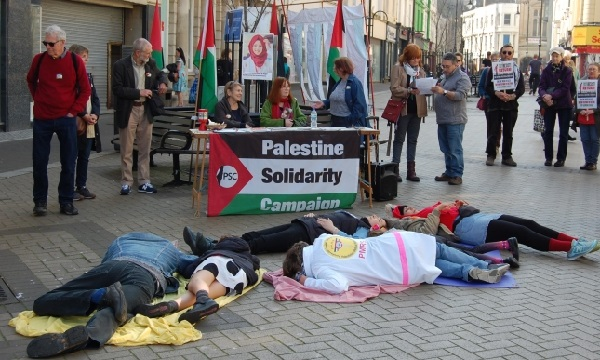 Hastings and Rye PSC's vigil and die-in marked the first anniversary of