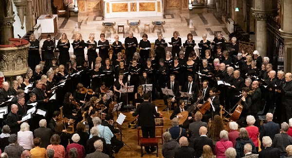 Hastings Philharmonic performing Messiah in Christ Church (photo: Peter Mould).