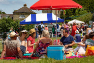 """Festival By The Lake 2018. Ashburnham Place, East Sussex UK. Fundraiser for Hastings Supports Refugees. Celebrating """"Hastings Community of Sanctuary""""."""