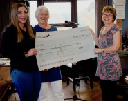 Donation presented to XTRAX project coordinator Jo Palmer (left) and trustee Sue Manwaring (centre)