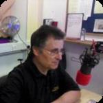 Eric in the studio.