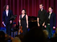 Hastings Philharmonic's chamber music ensemble - pianist Roman Kosyakov, violinist Angela Jung and cellist Will Robertson - with counter-tenor