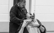 Revenge is tasty for Sweeney Todd. Rehearsal photo by Peter Mould.