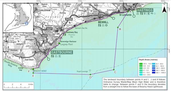 The designated marine conservation zone