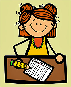 Cheerful writing