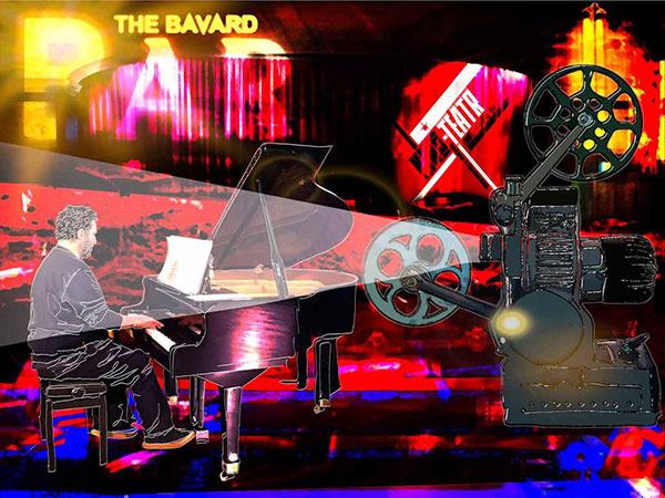 Piano Man Dan by Bavard artist Cliff Crawford https://cliffcrawfordart.co.uk/