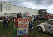 "Divest East Sussex campaigners say ""Fossil Fuel ain't Cool!"""