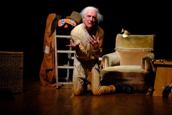 Patrick Kealey in performance; Barnstaple Fringe Festival