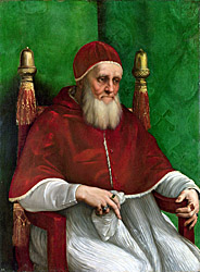 Rafael - Pope Julius !! from Wikipedia, picture in The National Gallery