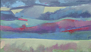 Downs near Firle (oil)