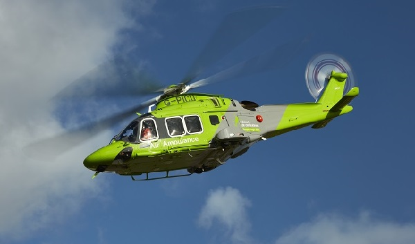 The helicopter of the Children's Air Ambulance.