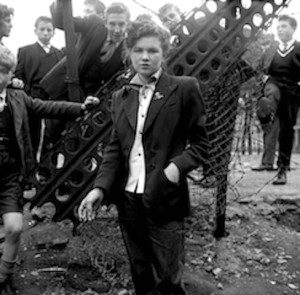 "© Ken Russell/TopFotos From a series: ""The Last of the Teddy Girls"" In Your Dreams January 1955 14 year old Jean Rayner in the exploratory stage of Teddyism."