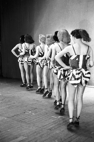 © Alan Vines/Top Fotos May 1954 Boys will be Girls, The oldest established all male revue 'This Was The Army', running for nine years, ever since WWII.