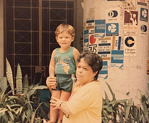 Marcio with his grandmother