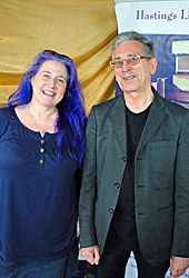 Short story category winner: L-R: Judge Tabby Stirling with winner Paul Green