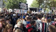 Listening to speeches at the Defend Democracy demonstration in Whitehall last Saturday.