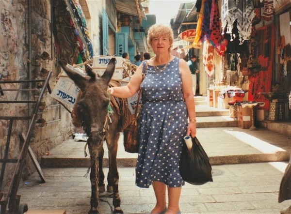 Marian Povey during her pilgrimage in 1993